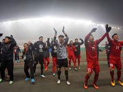 Football fans celebrate victory of U23 Vietnam team