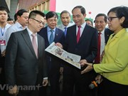 President Tran Dai Quang visits National Press Festival 2018