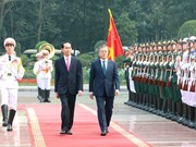 Ceremony held to welcome RoK President in Hanoi