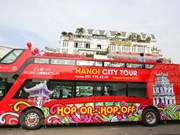 Hanoi's double-storey bus service thrills tourists
