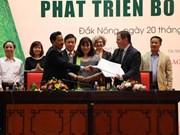 Seminar talks sustainable avocado farming in Dak Nong