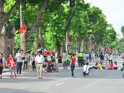Hanoi's walking zone attracts tourists
