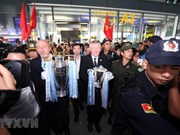 Premier League trophy arrives in Hanoi