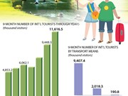 Foreign tourists to Vietnam up 22.9 percent in nine months
