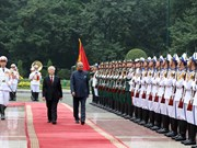 Official welcome ceremony for Indian President