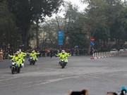 Vietnam police provide escort for DPRK leader