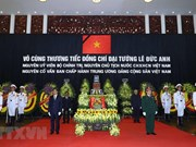 Memorial service for former President Le Duc Anh