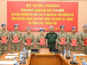 Seven more Vietnamese officers join UN peacekeeping