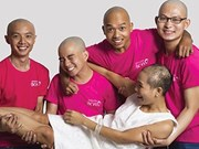 Bald pictures lift up cancer patients