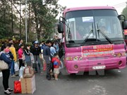 Binh Duong: Migrant workers given free rides home for Tet