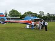 Helicopter tours open for Tet in central city
