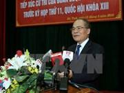 Top legislator talks with Ha Tinh voters ahead of NA session