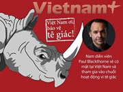 Hollywood filmmaker to join activities for rhino in Vietnam