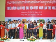 First exhibition on Vietnam's tertiary education underway in Laos