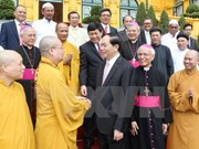 President meets religious dignitaries