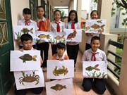 Secondary students display art in Hanoi, London