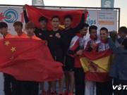 Vietnam wins three golds at world beach taekwondo