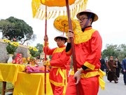 Traditional Tet re-enacted at Thang Long Royal Citadel