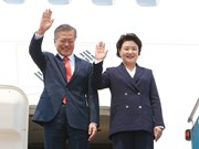 RoK President Moon Jae-in arrives in Hanoi for State visit to Vietnam
