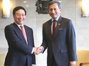 Deputy PM Pham Binh Minh on official visit to Singapore