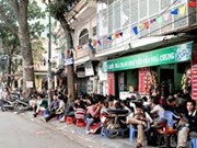 Roadside cafes in Hanoi