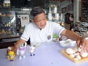 Craftsman makes Asiad mascots from eggshells