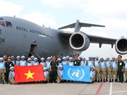 Second group of Vietnam's peacekeeping force sets off for South Sudan