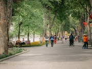 New look of Hoan Kiem Lake in Hanoi's Autumn
