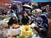 A vivid market of Ha Nhi people in mountainous Y Ty commune