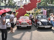 Vintage vehicles on display in Ho Chi Minh City
