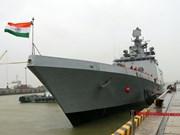 Indian naval ship INS Sahyadri visits Da Nang