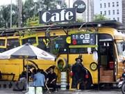 Bus coffee shop in Hanoi