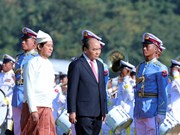 Myanmar leaders welcome Vietnamese PM