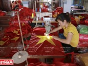 Flag-making village in Hanoi
