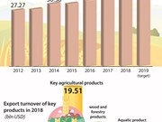 Agro- forestry-fishery exports reach record high  in 2018