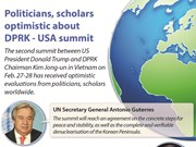 Politicians, scholars optimistic about DPRK - USA summit