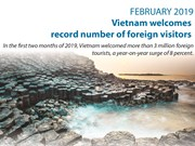 Vietnam welcomes record number of foreign visitors