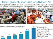 Textile-garment exports aim for 40 billion USD