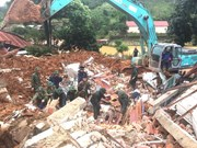 Efforts to find 22 victims in mountain landslide hitting army barracks