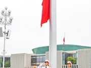 Flag hoisted at half-mast to commemorate former Party Chief Le Kha Phieu