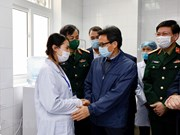 Deputy PM visits first cases of clinical trials of COVID-19 vaccine Nano Covax