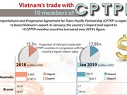 Vietnam's trade with 10 members of CPTPP