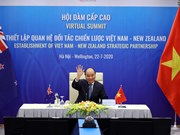 Vietnam, New Zealand's PMs hold virtual talks on bilateral strategic partnership