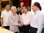 Party, State leader meets Hanoi voters