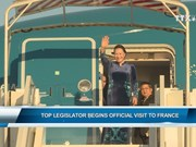 Top legislator begins official visit to France