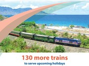 130 more trains to serve upcoming holidays