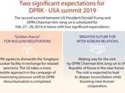 Two significant expectations for  DPRK - USA summit