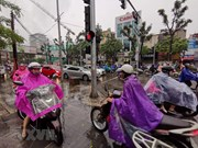 Downpour causes traffic congestion in Hanoi