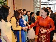 NA Chairwoman meets Vietnamese community in Belgium