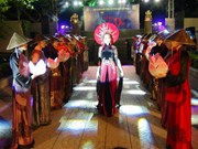 Ao Dai performance as part of Nha Trang Sea Festival